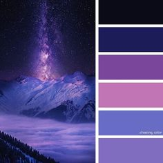 57 Ideas photography night stars nature for 2019 Color Schemes Colour Palettes, Colour Pallette, Color Combos, Galaxy Colors, Stars At Night, Colour Board, Color Swatches, Color Theory, Color Inspiration