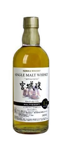 Miyagikyo Malty & Soft 12 year old Single Malt Japanese Whisky (500ml, 55%)