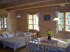 Výsledek obrázku pro interiér roubenky