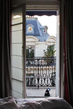 Paris apartment with a balcony overlooking the city Paris France, Oh Paris, I Love Paris, Paris Flat, Apartment Balconies, Paris Apartments, Beautiful Paris, Hello Gorgeous, Parisian Apartment