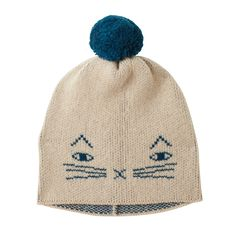 Everyone's favourite cat is now a hat. The Mog Hat comes in kids and adult sizes - and has matching mitts! 100% Lambswool, knitted in Scotland.