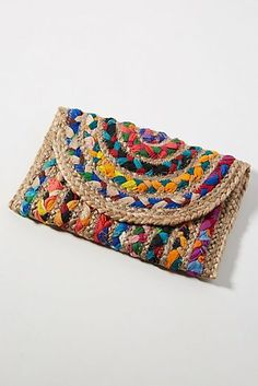 Bags - Handbags, Purses & More : Fiesta Woven Envelope Clutch Leather Purses, Leather Handbags, Leather Wallet, Sacs Design, Envelope Clutch, Clutch Bags, Tote Bag, Boho Bags, Unique Bags