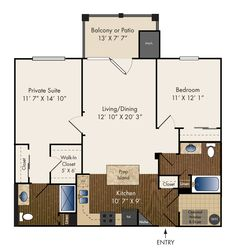 Two Bedroom 1121 sq. ft.