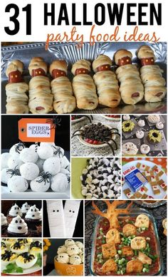 Hosting a Halloween Party this year? In charge of a dish for the neighborhood party this year? Here are 31 Halloween Party Food Ideas that will be the hit of any Halloween Party!