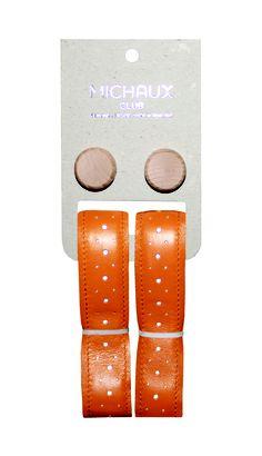 Michaux Club Reflective Leather Handlebar tape