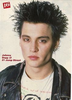 """As seen in """"16"""" magazine during his """"21 Jump Street"""" era, lookin' like a little punk."""