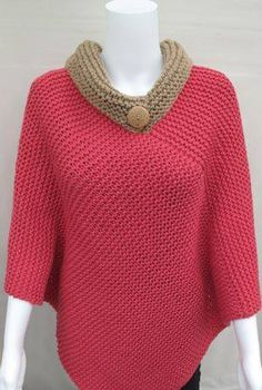 Crochet Poncho Adult Yarns Ideas For 2019 Poncho Pullover, Poncho Sweater, Knitted Poncho, Crochet Cardigan, Knit Crochet, Crochet Hats, Crochet Poncho Patterns, Knitting Patterns, Cardigan Bebe