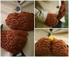 Ivy Trellis Mittens-- This pattern is part of my new design book, Botanical Knits, due out February 2013.