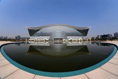 NEW CENTURY GLOBAL CENTER, China. Situated in Chengdu, this mammoth building was opened in July 2013. With 1.7 million square metres of floor space, it is the largest building in the world, which was built at a cost of US $2 billion