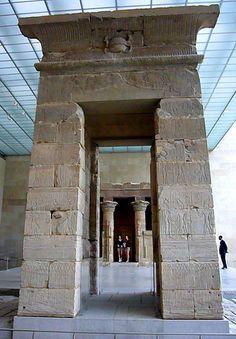 *TEMPLE of DENDUR: upper Egypt, period 23-10 B.C. ~ Egyptian wing of the Metropolitan Museum