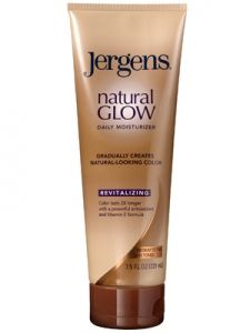 Jergens Natural Glow. Keeps your skin moisturized and glowing without harmful sun rays.