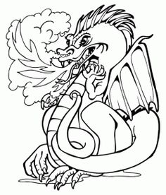 dragon coloring pages dragons mythical creatures by mishmashart ... - Mythical Creatures Coloring Pages