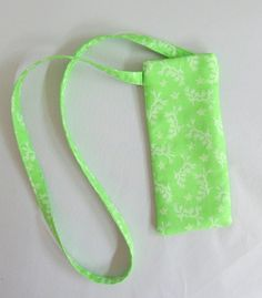c7528a961d3 Eyeglass Case Green Cotton Fabric Eyeglass Pouch With Lanyard Sun Glass Case  with Neck Strap Gift