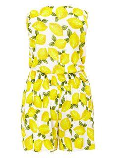 Lemon Print Playsuit