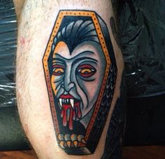 Vampire Coffin Tattoo by Luke Jinks