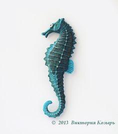 Needle Felted Seahorse
