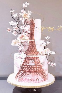 7 Facts You Never Knew About Eiffel Tower Wedding Cakes - 7 Facts You Never Knew About Eiffel Tower Wedding Cakes - eiffel tower wedding cakes Paris Birthday Cakes, Paris Themed Cakes, Paris Cakes, 7th Birthday, Happy Birthday Paris, 15th Birthday Cakes, Birthday Parties, Crazy Cakes, Fancy Cakes