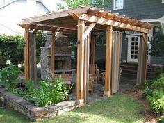 Amazing backyard pergola