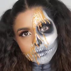 Halloween Makeup Videos, Unique Halloween Makeup, Halloween Looks, Scary Halloween, Kids Zombie Makeup, Disney Halloween Makeup, Scary Makeup, Fx Makeup, Halloween 2019