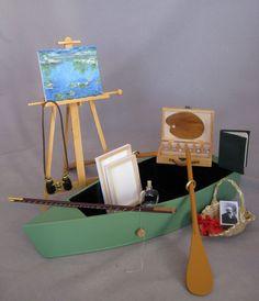 """Bleuette accessories.  """"Bleuette on Monet's Pond"""""""