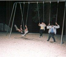 """Clark, Avery and Scott having fun at the park. They laughed because they were happy to be together without and fear. """"We should always feel this way"""" Scott thought."""