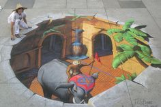 3D Street Painting - Indian Fantasy by Tracy Lee Stum, via Flickr