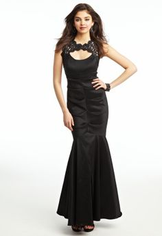 Taffeta and Lace Prom Dress from Camille La Vie and Group USA
