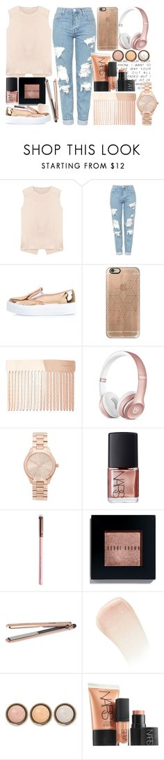 """""""Rose gold ❤️"""" by itsfashioninfinity ❤ liked on Polyvore featuring Acne Studios, Topshop, River Island, Casetify, Witchery, Supra, Michael Kors, NARS Cosmetics, Bobbi Brown Cosmetics and DIVA"""