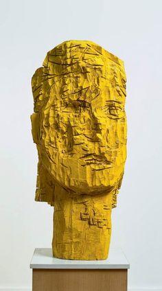 Paris_Musée d'Art Moderne_Georg Baselitz_sculpture Portrait Sculpture, Sculpture Head, Wood Sculpture, Mc Escher, Contemporary Sculpture, Contemporary Art, Guernica, Art Moderne, Land Art