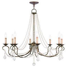Livex Lighting Pennington Venetian Golden Bronze Eight Light Chandelier