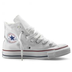 newest 95958 ded5f Converse Chuck Taylor All Star High Top Optical White Mens 7 Signature  Converse rubber outsole All Star heel patch
