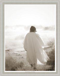 Come Follow Me by Mark Mabry Jesus Christ 15x19 Framed Art Print Picture Framed Art by Tilliams,http://www.amazon.com/dp/B00GT0NSSG/ref=cm_sw_r_pi_dp_nmx9sb0HV5S5WKTX