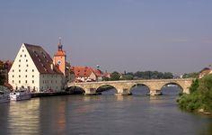 Germany  Steinerne Brucke in Regensburg