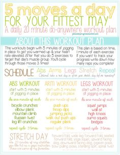 May's workout challenge!