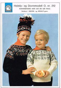 Barnegensere med lue og løs hals - O. nr. 212 - Svanedal