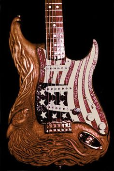 Carved guitar liberty front