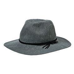 Knit Fedora Hat - Grey