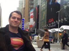 Superman star Henry Cavill was hanging out in Times Square and no one noticed him
