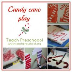 Candy cane play all around the clasroom