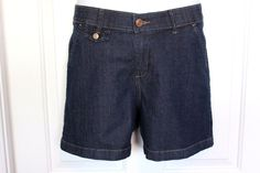 LEE Women's COMFORT WAISTBAND Stretch Denim Jean Shorts Size 8 #Lee #Denim