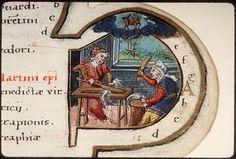 Flax preparation, month of Nov. Cote  Amiens - BM - ms. Lescalopier 022  f. 012 Sujet  Battage du lin Titre  Heures à l'usage de Rome Datation  vers 1555