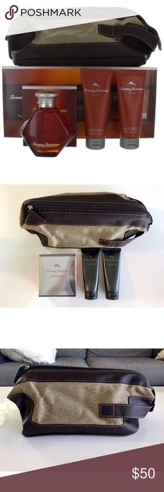 NWT Tommy Bahama Compass For Him Travel Set New with tags. Tommy Bahama Compass for Him collection travel set. Set comes with 3.4 oz eau de cooogne spray, 3.4 oz after shave balm, 3.4 oz hair & body wash, and a canvas and leather travel bag. Great travel accessories or gift for your loved one. Perfect condition and great deal - cologne itself listed on Amazon for $78. Let me know if you have any questions! 😊 Tommy Bahama Other