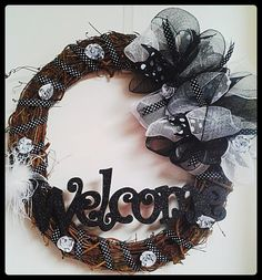 Updated Wreath to welcome your guests in style This by 2KraftyChix, $65.00 at etsy.com