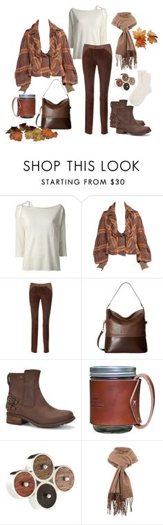 """Chilly Autumn Morning"" by j123z ❤ liked on Polyvore featuring Erika Cavallini Semi-Couture, Vivienne Westwood, Lodis, UGG, Tohum Design, Barbour and Johnstons of Elgin"
