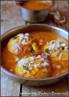 SAMBAR IDLI (BARLEY n BROWN RICE) | Life with spices