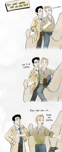 And They Call Us Dean and Cas by JoannaJohnen....... Supernatural/ Road to     El Dorado