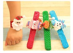 Christmas Luminous Bracelet,Luminous Hand Ring Kids Christmas Santa Snowman kids toy(Pack of 4) ** Check out the image by visiting the link.(It is Amazon affiliate link) #mylove