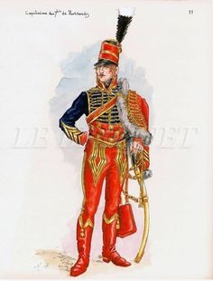 French; 7th Hussars, Captain, Egypt, 1800