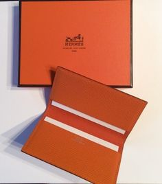 Hermès New Hermes Card Case in orange epsom calfskin leather