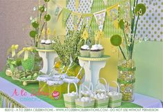 Spring party with lots of green; could easily add Irish elements to this for St. Patrick's Day